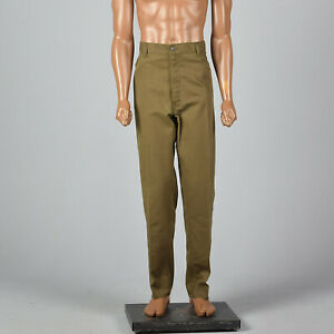 XL 1980s Mens Jeans Brown Levi's Denim Pants High Rise Tapered Leg Zip 80s VTG
