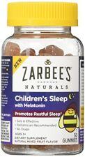 Zarbee's Naturals Children's Sleep with Melatonin Supplement, Gummies, Natural