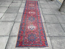 Antique Traditional Hand Made Runner Persian Red Wool Narrow Runner 320x86cm