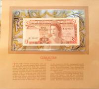 Most Treasured Banknotes Gibraltar 1 pound 1979 P-20b UNC Prefix K12