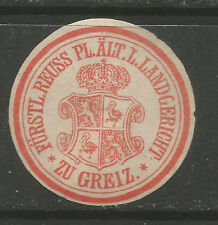 Germany/Greiz District Court stationery seal/siegelemarke