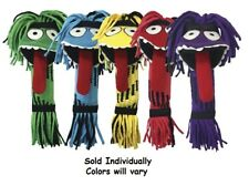 """Silly Rope Monster Dog Toys Funny Squeaker Fetch Tugs Assorted Colors 13"""" Long"""