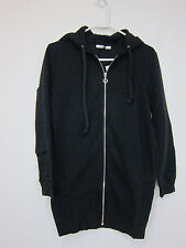 Glamorous Emily Long Zip-Up Hoodie - Womens XS - Black - NWT