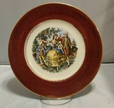 """RARE Imperial Salem China Co. Karat Gold Plate 10 1/2"""" Courting Couple"""