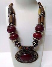 Necklace Big Pendant Jewelry Ethnic Gypsy Tribal Boho Chic Fusion India EA317