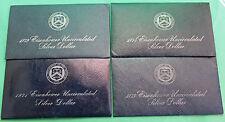 1971 thru 1974 SILVER Ike Dollar Blue Eisenhower & Envelope 40% Silver BU 4 Coin