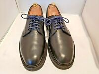 Tricker's Black Leather Derby shoes size 10 UK Made in England Trickers