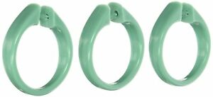 Carnation Home Fashions Snap Type Shower Curtain Hooks, Set of 12 CAR-USCRD/06