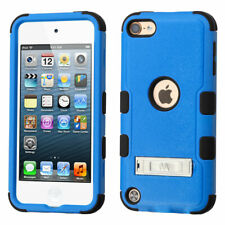 iPod Touch 5th 6th & 7th Gen - BLUE Hard Hybrid Protective Armor Kickstand Case