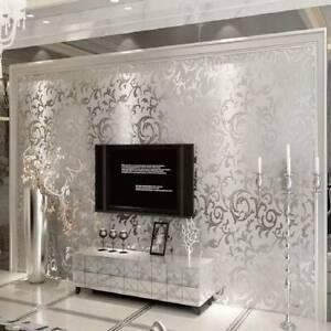 3D Luxury Waterproof Wallpaper Embossed 10M Wallpaper Baroque Wall Paper Roll