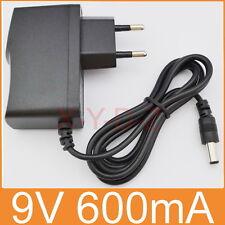 AC 100V-240V Adapter DC 9V 600mA Switching power supply 0.6A EU 5.5mm x 2.1mm