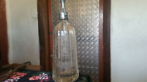 rare double etched manufacturer geo halls and dixons melbourne soda syphon