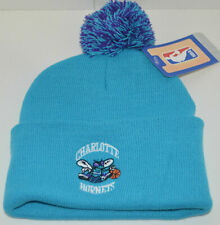 Charlotte Hornets Knit Beanie Hat with Pom top NBA New NWT One Size