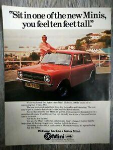 British Leyland BL Mini Clubman 1100 Eric Sykes A4 Advert Brochure Related 1977