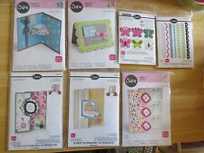 lot 7 new pkg Sizzix dies framelits flip-its drop-ins cards borders butterflies