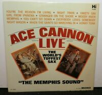 ACE CANNON LIVE (VG+) HL-12025 LP VINYL RECORD