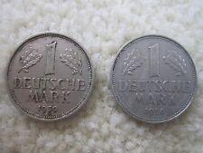 1950 J & 1956 F GERMANY COIN LOT of 2! 1 DEUTSCHE MARK! german world NICE!