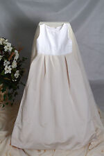 Flowergirl Dress Pageant by Jordan Sleeveless Empire Satin Ivory & Pearl Size 14