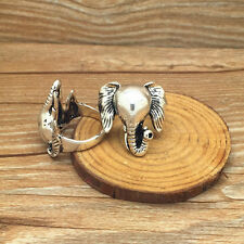 NEW US size9 sell 316l stainless steel Elephant Fashion Punk design ring #24