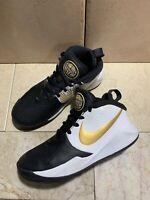 Boys Youth Nike Size 4Y Team Hustle D9 Black Gold White