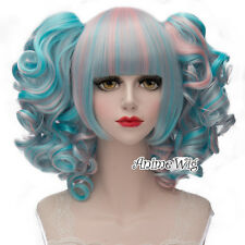 Lolita 30cm Heat Resistant Multi-colors Lovely Anime Cosplay Wig + Two Ponytails