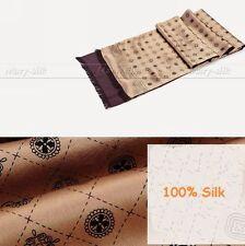 Fashion  Mens 100% Silk Long  Scarf  Cravat  Scarives Double  Layer