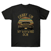 Carry on My Wayward Son Vintage Retro Men's Short Sleeve T Shirt Cotton Tee Top