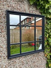 61*61cm BLACK SQUARE WINDOW MIRROR ENCHANTED MANTLE HALLWAY BLACK MIRROR