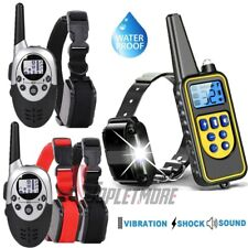 Waterproof Dog Training Collar Rechargeable Remote Shock Control Range 880 Yards