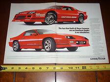 1986 CAMARO IROC-Z  Z28 STREET CAR RACE CAR - ORIGINAL 2 PAGE AD  GOODYEAR