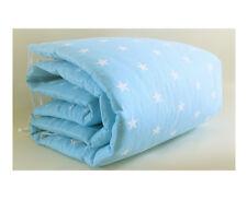 Gooseberry Baby Cot Crib Bumper Cotton Blue Stars 210 x 30 cm