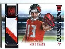 One (1) 2014 Elite Football Mike Evans Event-Worn Material RC T.B. Buccaneers