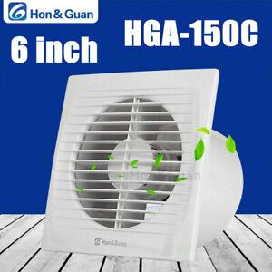 Hon&Guan 6in ABS 160CFM Exhaust Fan Ventilator For Bathroom Kitchen Wall Window