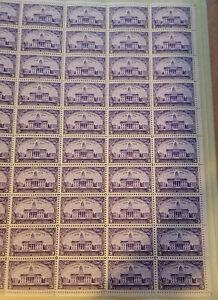 Scott #838 Iowa Full Sheet of 50 Stamps - MNH