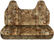 99-04 Ford f 150-250-350 camouflage car seat covers  bench with molded headrest