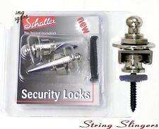 Schaller strap locks/Security lock set, nickel 14010101