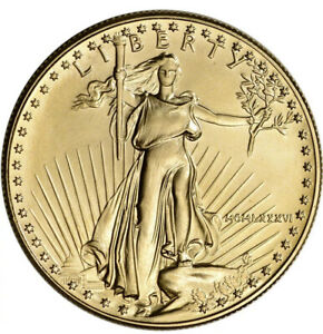 1986 American Gold Eagle 1 oz $50 - BU