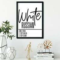 Kitchen Prints Wall Art Picture Minimalist Print Home Posters Cocktail Russian
