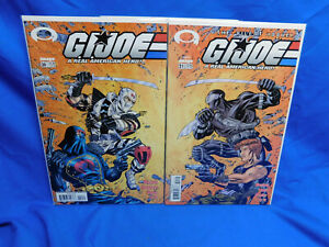 G.I. Joe Image Comics #20 & 21 Connecting Cover VF/NM Snake Eyes Silent Issue