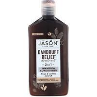 Jason Natural  Dandruff Relief Treatment  2 in 1  Shampoo   Conditioner  12 fl