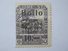 VECCHIA MARCA DA BOLLO posta Fiume 1918 SOVRASTAMPA lire 5  10