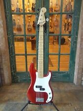 Fender Squier Vintage Modified Precision P Bass Candy Apple Red 5 String Bass