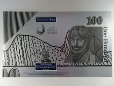 1995 $100 Fraser / Cole Vertical Pair of Uncut Banknotes Black Serial Numbers