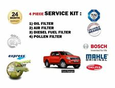 FOR FORD RANGER 2.2DT 3.2 2011--> SERVICE KIT OIL AIR FUEL POLLEN FILTER SET