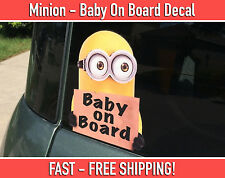 Baby on Board - Minion Vinyl Sticker Window Car Bumper Sticker