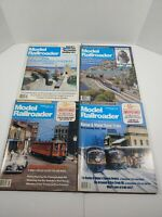 Vintage 1988 Model Railroader Magazine Lot Of 4