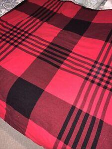 Martha Stewart Red/ Black Plaid Flannel Cotton Full/Queen Duvet Cover