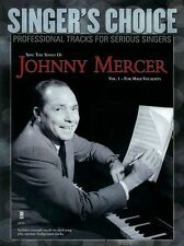 Singer's Choice Sing Songs of Johnny Mercer Male Vocalists VOCALS Music Book &CD