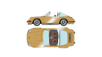 NEW Titan64 1/64 Singer 911 (964) Targa Gold finished product