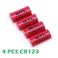 4X Rechargeable batteries 3.7V 2300mAh 16340 model for Flashlight CR123A CR17345